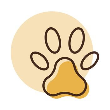 Paw vector icon. Pet animal sign