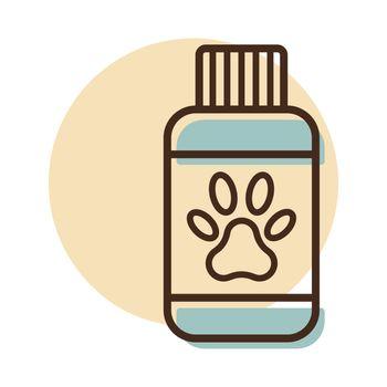 Pet shampoo vector icon. Pet animal sign