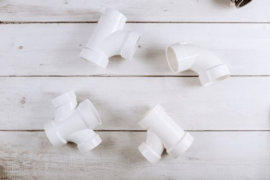 Parts of pvc plumbing pipes corners for water pipelines sewerage