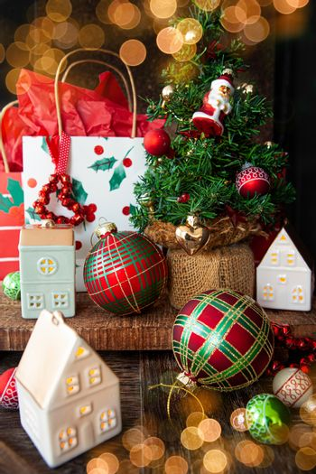 Colorful presents for Christmas