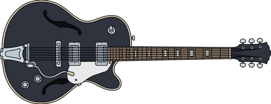 The old black electric guitar