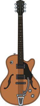 The retro electric guitar