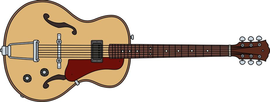 The old semiaccoustic guitar