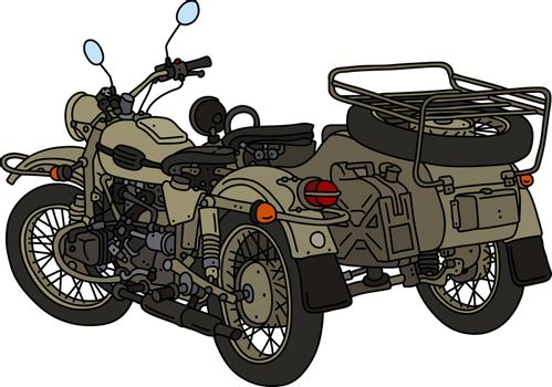 The classic sand military sidecar