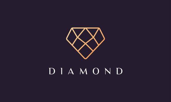 glamor diamond logo with simple and modern concept