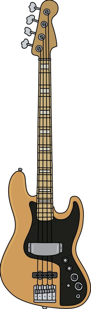 The classic electric bass guitar