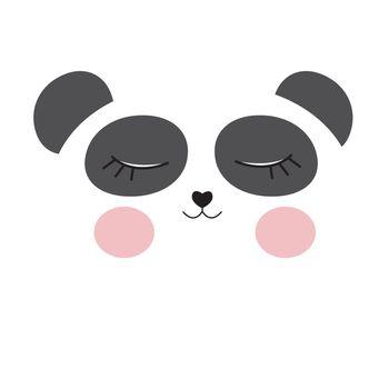 Cute panda mask background. Vector illustration EPS10