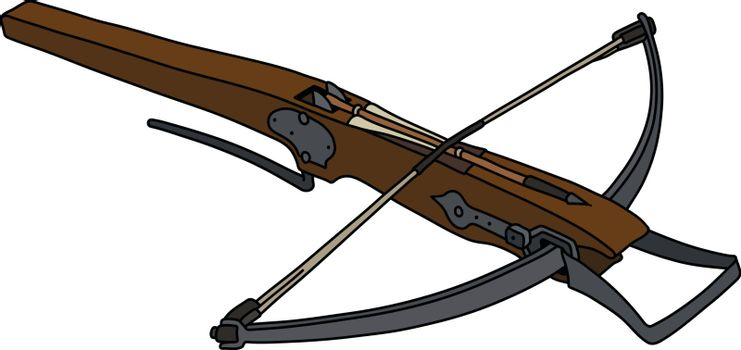 The historical wooden crossbow