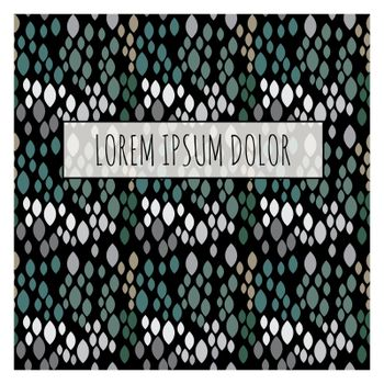 Abstract Snake Skin Pattern with Frame and Sample Text. Vector Illustration EPS10