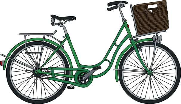 the classical green bicycle