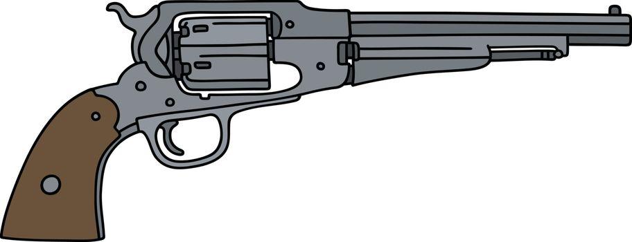 The vintage american handgun