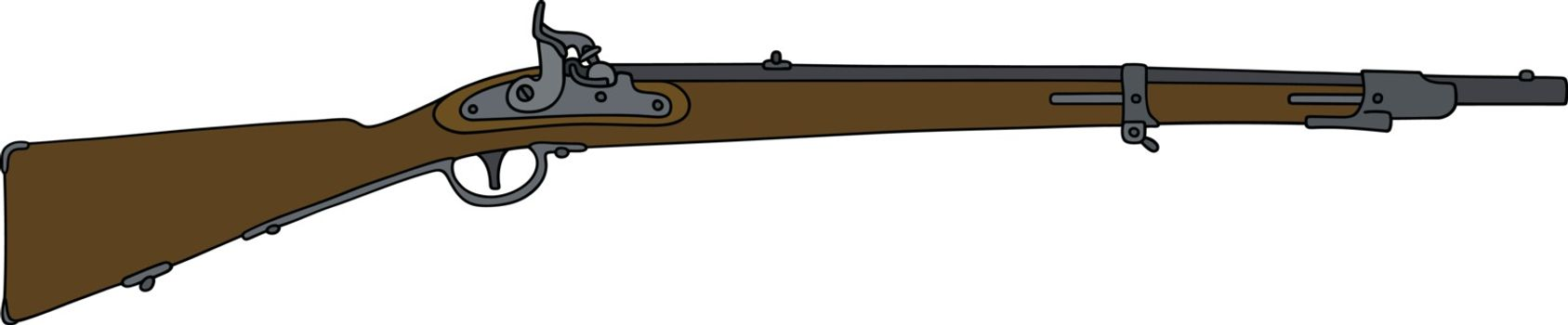 The vintage military rifle