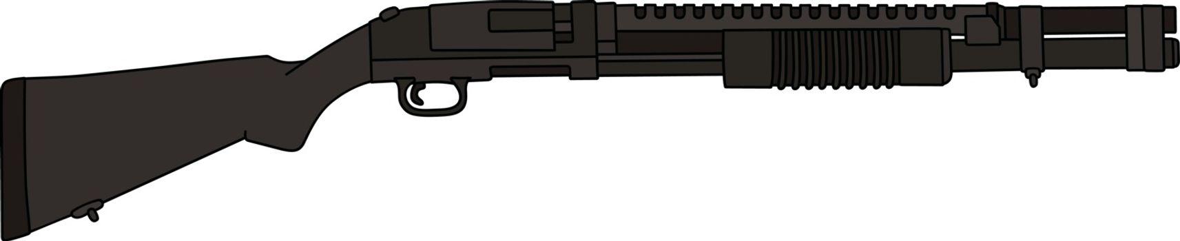 The pump shotgun