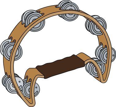 The classic wooden tambourine