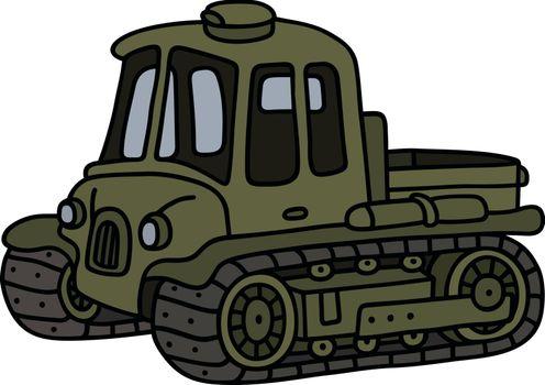 Vintage artillery tractor