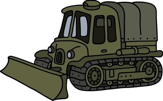 Funny vintage military tracked vehicle