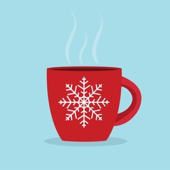 Winter Cup Background. Photo-Realistic Vector. EPS10