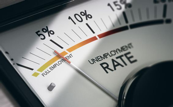 Full employment. Measuring unemployment rate.