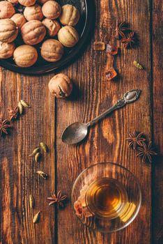 Spiced tea in arabic glass