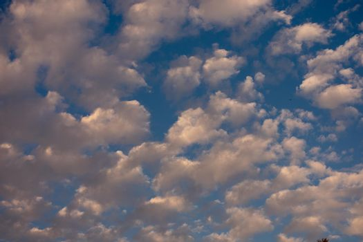 A Blue Sky Full of a Lot of High Flying Clouds