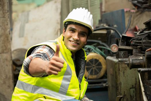 Manufacturing staff engineer in production of factory