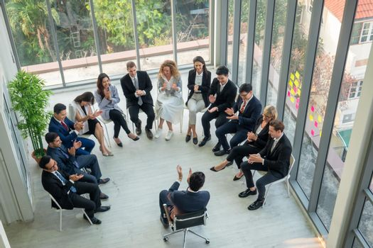 Group of people in Business corporate Event training seminar, the congratulation success of the organization. The conferences event or training education. Business workplace management and development performance.