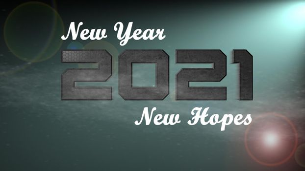 It depicts a digitally generated image of 2021 number on green background