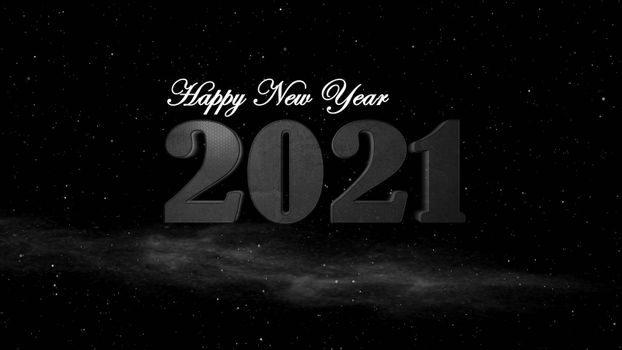 It depicts a digitally generated image of 2021 number on black background, it can be used for science fiction fans