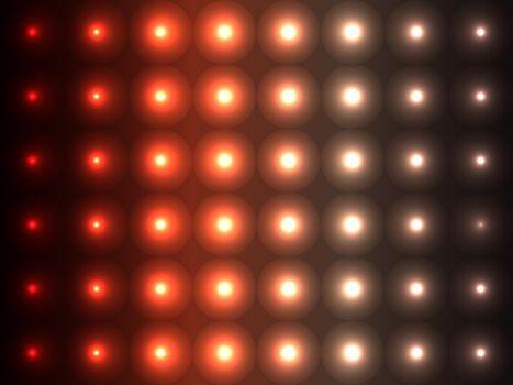 Brown and orange shades convex balls, sparkling pattern design