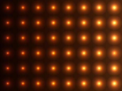 Brown shades convex balls, sparkling pattern design