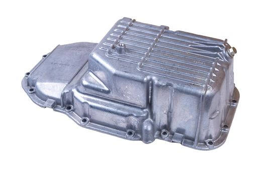 aluminum alloy cove crankcase engine part for automobile or vehicle before machining made from high pressure die casting process on table