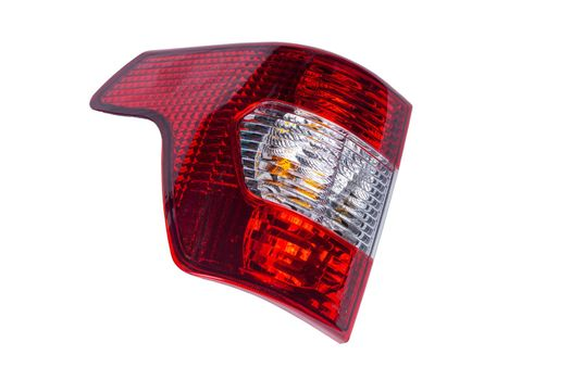 new Russian car tail light isolated on white background