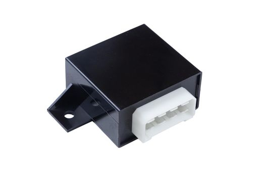 Door lock control unit, isolated on a white background
