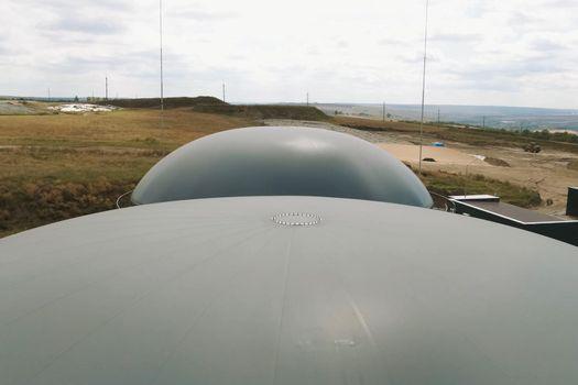 Biogas station. Biological gas plant. Biogas station. Biological gas plant.