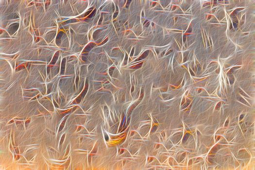abstract illustration in the style of soft filler, openwork fabric made of thin light lines. beautiful soft background