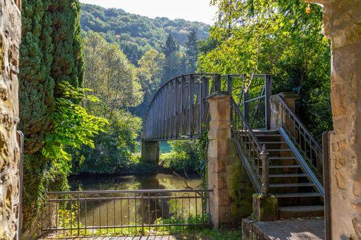 Bridge Eiserner Steg over the river Glan in Meisenheim