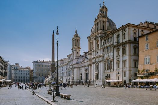 Rome September 2020, Piazza Navona in Rome, Italy Europe in the morning