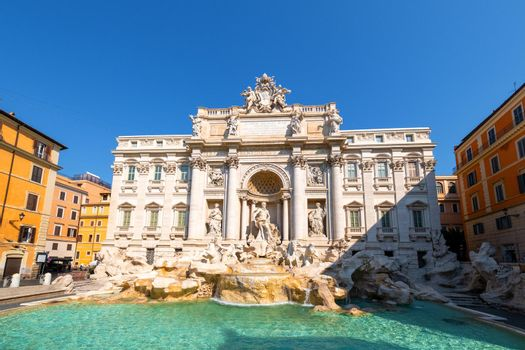 Trevi Fountain, rome, Italy. City trip Rome in the morning