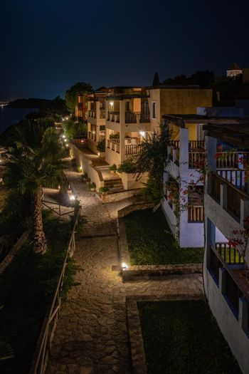 Crete Greece, Candia park village a luxury holiday village in Crete Greece by the ocean in traditional colors