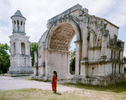 Les Antiques monument which is a part of Glanum archaeological site near Saint Remy de Provence in France. Europe