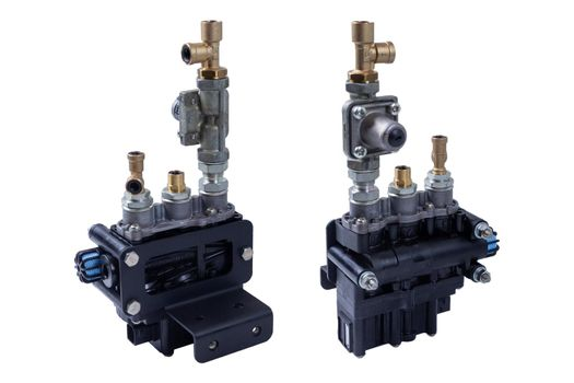 Solenoid valve pneumatic system of the engine of the truck