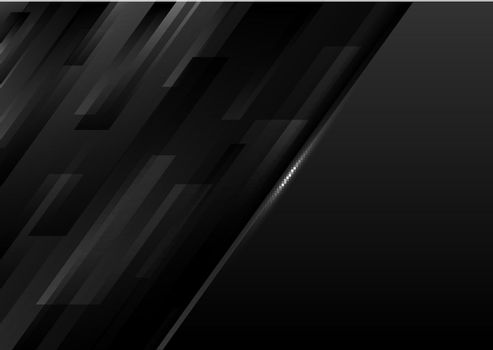 Abstract modern template black geometric diagonal stripes on dark background. Vector illustration
