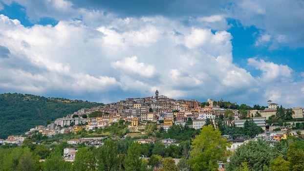 Overview of Fiuggi in Italy, Scenic sight in Fiuggi, province of Frosinone, Lazio, central Italy. Europe