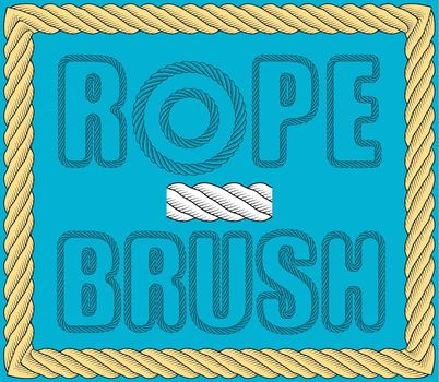 nautical twisted rope brush. Rope for fastening on ships. Element for design and decoration. Vector