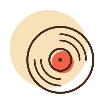 Vinyl record, lp record vector icon
