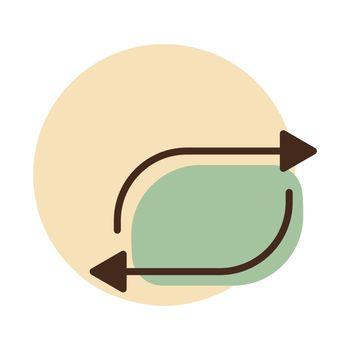 Repeat button vector flat icon