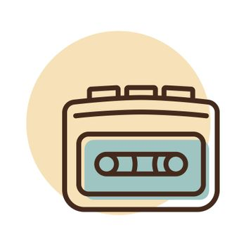 Cassette player vector flat icon