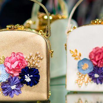 Decorated flower female handbags