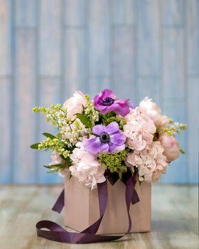 Colorful tulpan flower bouquet