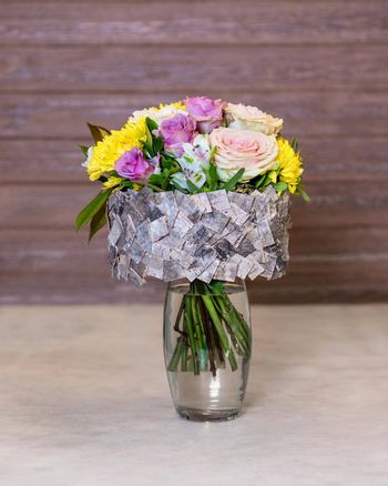 Beautiful flower bouquet in the vase